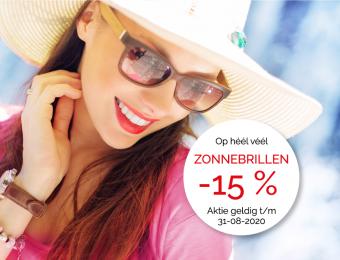 Zomeraktie 2020 - 15% korting op Zonnebrillen